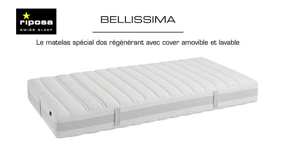 matelas riposa bellisima dos sensible sp cialiste literie lausanne. Black Bedroom Furniture Sets. Home Design Ideas