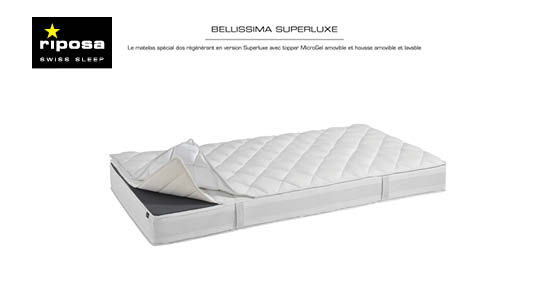 matelas riposa bellisima superluxe sp cialiste literie lausanne. Black Bedroom Furniture Sets. Home Design Ideas